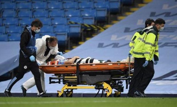 Eric Garcia (Manchester City) a été emmené à l'hôpital après sa collision avec Ederson