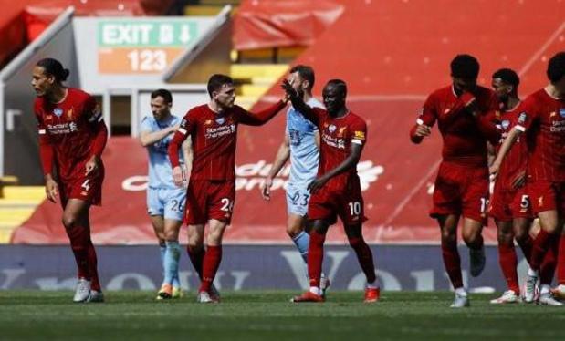 Premier League - Liverpool accroché par Burnley mais toujours en course pour atteindre les 100 points