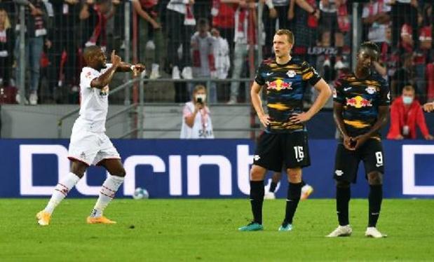 Bundesliga - Leipzig, volgende CL-opponent van Club Brugge, kan ook bij Keulen niet winnen