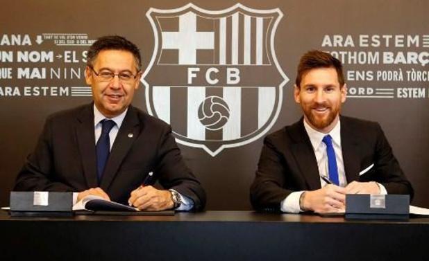 La Liga - Messi laat Barcelona weten dat hij weg wil, voorzitter Bartomeu blijft nog op post