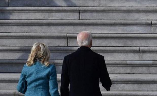 Joe Biden en Kamala Harris komen aan bij Capitool