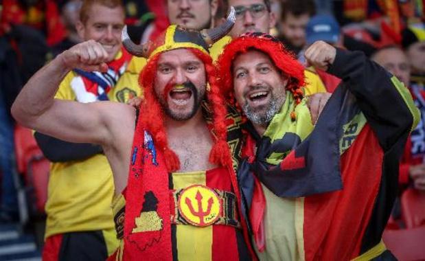 Les Diables soutenus par 1903 supporters belges lors de la phase de groupes de l'Euro 2020