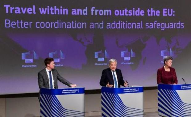 La prolongation belge de l'interdiction des voyages non-essentiels inquiète la Commission