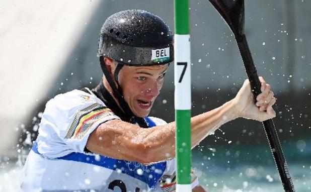 Slalomkajakker Gabriel De Coster wordt laatste in eerste run