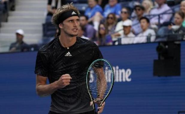 US Open - Alexander Zverev vlot naar halve finales