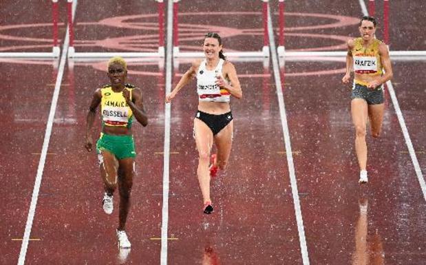 Paulien Couckuyt loopt BR in halve finale 400m horden, maar grijpt naast finaleplaats