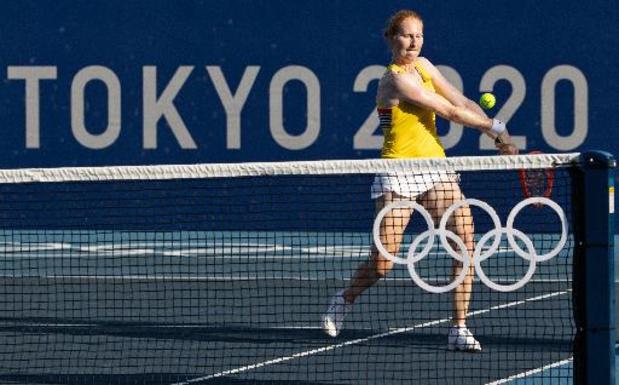 Alison Van Uytvanck knokt zich naar een plaats in de derde ronde