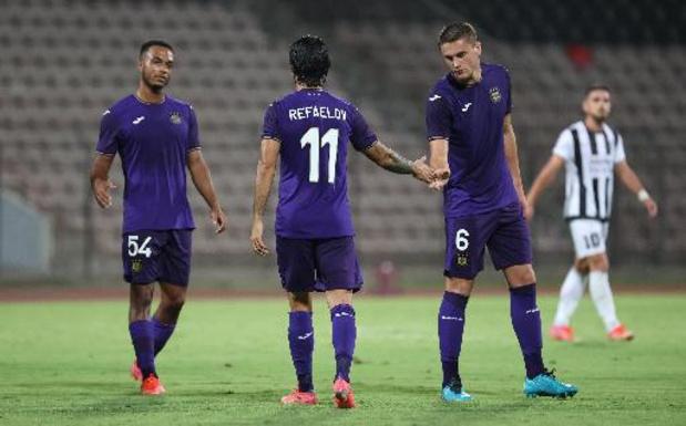 Conference League - Vainqueur à Laç (0-3), Anderlecht entrevoit les barrages