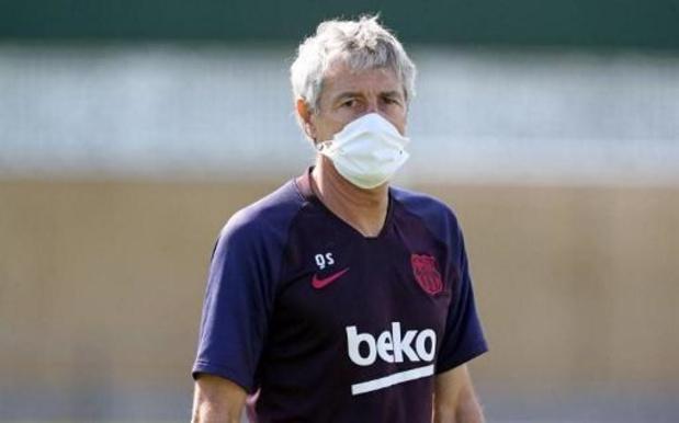 Coach van FC Barcelona is geen voorstander van vijf wissels