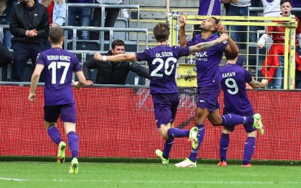 Jupiler Pro League - Anderlecht boekt eerste competitiezege tegen tienkoppig Seraing