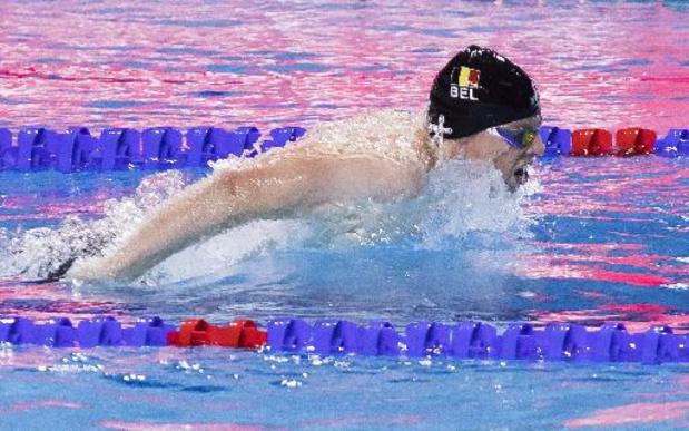 Louis Croenen wordt in Boedapest derde op 200m vlinder