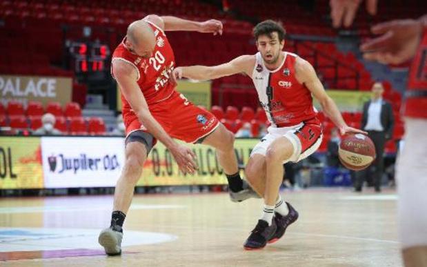 Euromillions Basket League - Le premier match des quarts de finale des playoffs pour Anvers, Alost, Ostende et Mons