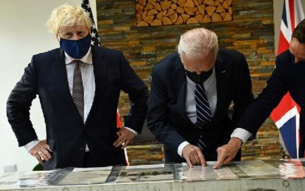 Ontmoeting Biden-Johnson aan vooravond G7 begonnen