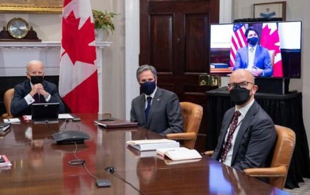 Biden houdt eerste virtuele bilaterale ontmoeting met Trudeau