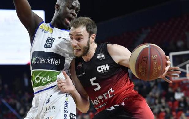 EuroMillions Basket League - Charleroi gagne à Liège en ouverture de la 9e journée du 2e tour