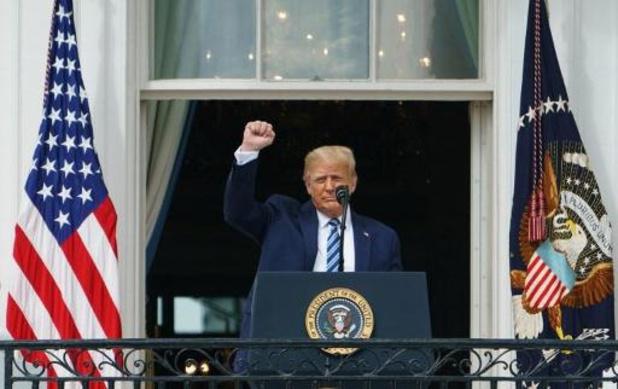 """Trump: """"Lijkt erop dat ik immuun ben"""""""