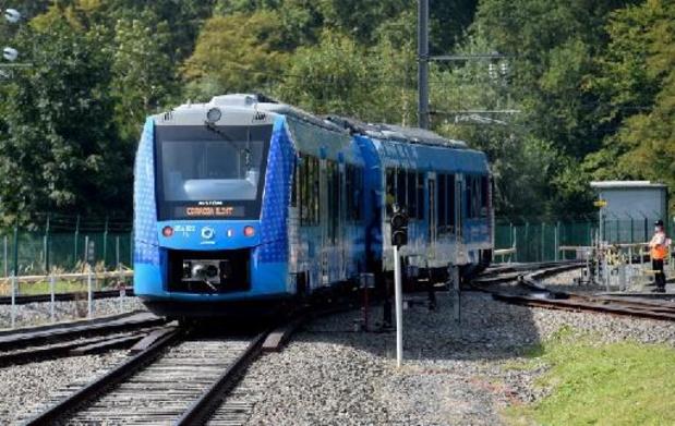 Waterstoftrein rijdt voor het eerst in Frankrijk