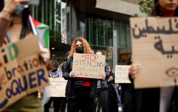 Environ 3.000 personnes manifestent à Bruxelles en soutien aux Palestiniens