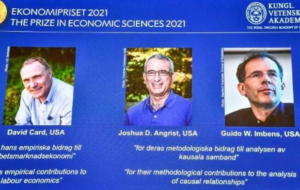 David Card, Joshua Angrist en Guido Imbens winnen Nobelprijs voor Economie