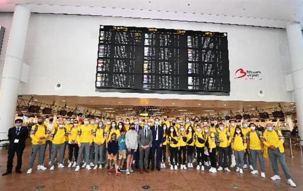 JO 2020 - 34 athlètes belges, dont Nina Derwael et les frères Borlée, sont partis pour Tokyo