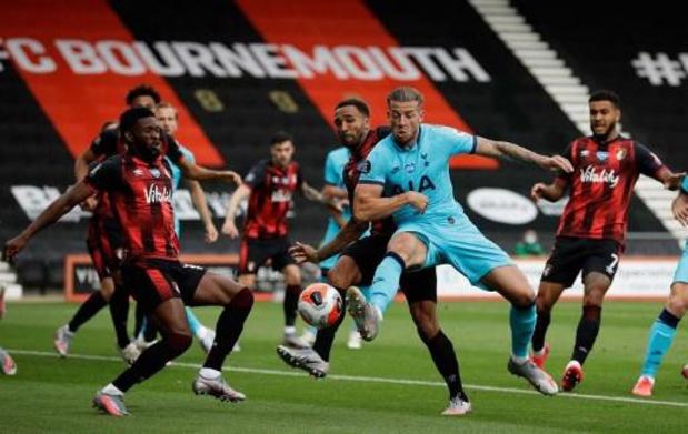 Belgen in het buitenland - Alderweireld en Vertonghen raken met Tottenham niet voorbij staartploeg Bournemouth