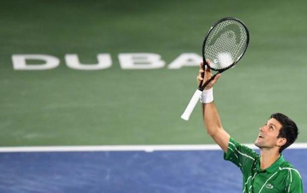 ATP Dubaï - Novak Djokovic redt drie matchballen voor plaats in finale