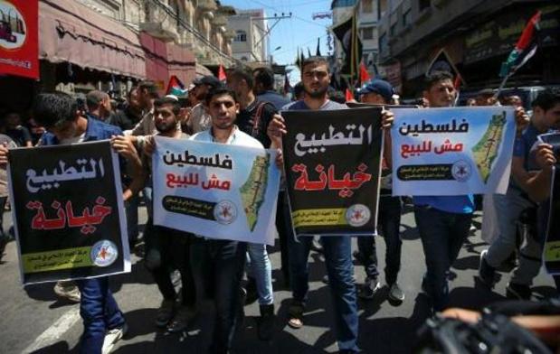 Palestijnen protesteren tegen toenaderingsakkoord tussen Israël en VAE