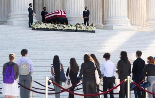 A Washington, hommages à la juge Ruth Bader Ginsburg avant la bataille politique