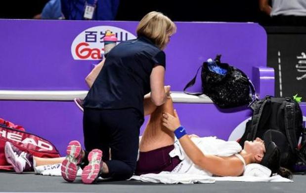 Bianca Andreescu, touchée au genou, déclare forfait