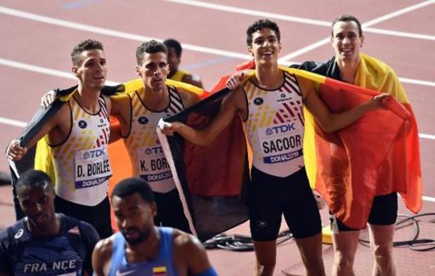 Mondiaux d'athlétisme - Les Belgian Tornados médaille de bronze du 4x400 m