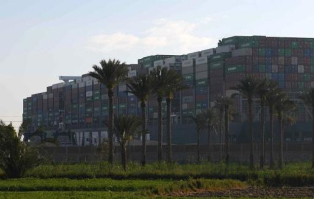 L'Égypte réclame 900 millions de dollars après le blocage du canal de Suez