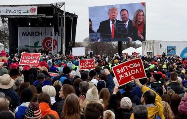Donald Trump eerste Amerikaanse president die deelneemt aan anti-abortusmars
