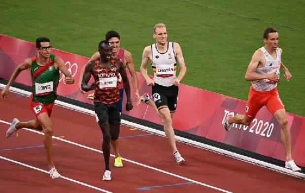 Crestan wordt tweede op 800m op Memorial Van Damme
