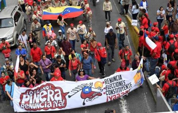 """Sociaal protest Chili - President Pinera zegt """"boodschap gehoord"""" te hebben"""