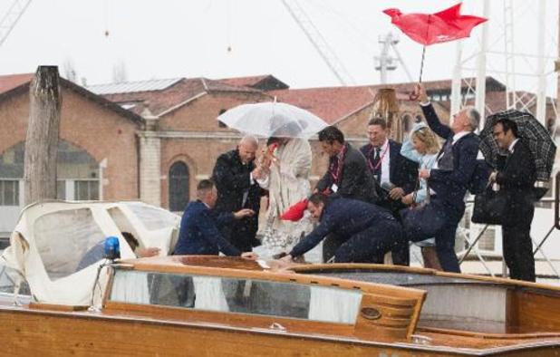 Le niveau d'alerte baisse légèrement à Venise, toujours inondée