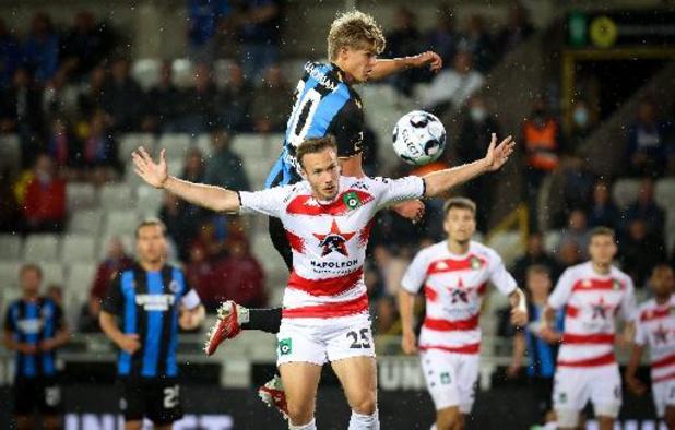 Jupiler Pro League - Le Cercle rejoint le Club en fin de rencontre (1-1) dans le derby brugeois