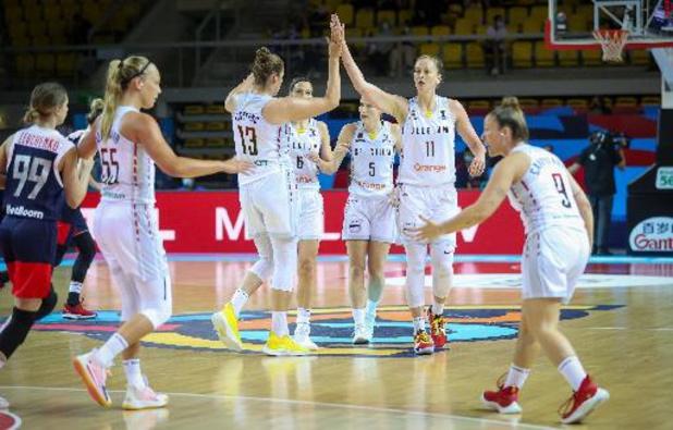 EK basket (v) - Belgian Cats stoten door naar halve finales