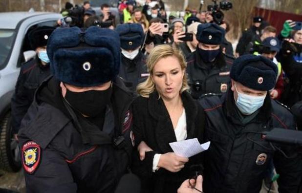 Aanhangers Navalny gearresteerd aan strafkamp Russische opposant