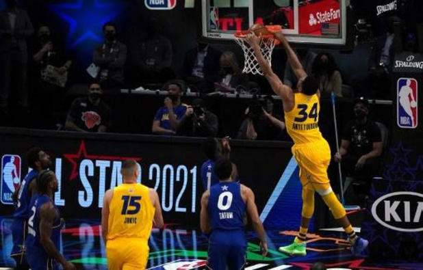 """Le All-Star Game au """"Team LeBron"""", le sans-faute d'Antetokounmpo élu MVP, le """"King"""" boude"""