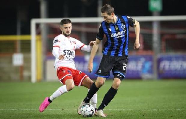 Jupiler Pro League - Mouscron tient en échec le Club de Bruges 0-0