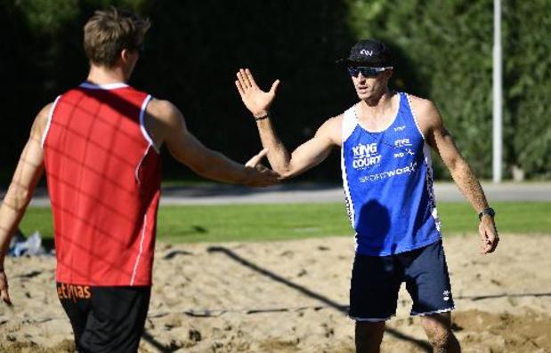 Dries Koekelkoren et Tom van Walle éliminés en huitièmes de finale du championnat d'Europe de beachvolley