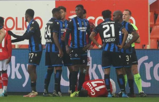 Odilon Kossounou (Club de Bruges) risque deux matches de suspension