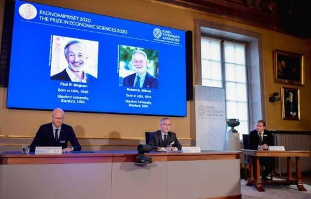 Amerikanen Milgrom en Wilson winnen Nobelprijs voor onderzoek naar veilingtheorie
