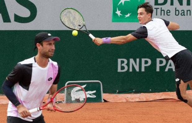 Sander Gillé et Joran Vliegen éliminés en 8e de finale du double messieurs de Roland-Garros