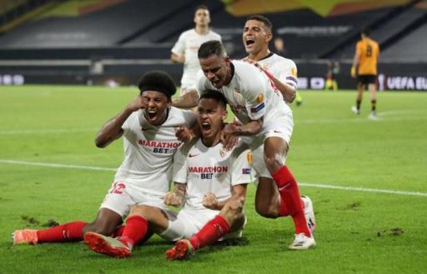 Belgen in het buitenland - Sevilla houdt Wolverhampton en Dendoncker uit halve finales EL, ook Shakhtar stoot door