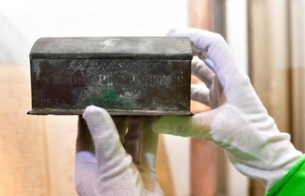 Verviers: le coffret découvert contient bien le coeur du 1er bourgmestre de la ville
