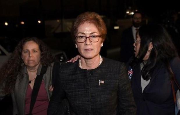 L'ex-ambassadrice des Etats-Unis en Ukraine affirme s'être sentie menacée par Trump