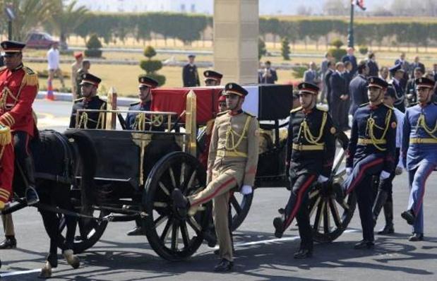 Egyptische ex-president Moebarak met militaire eer begraven