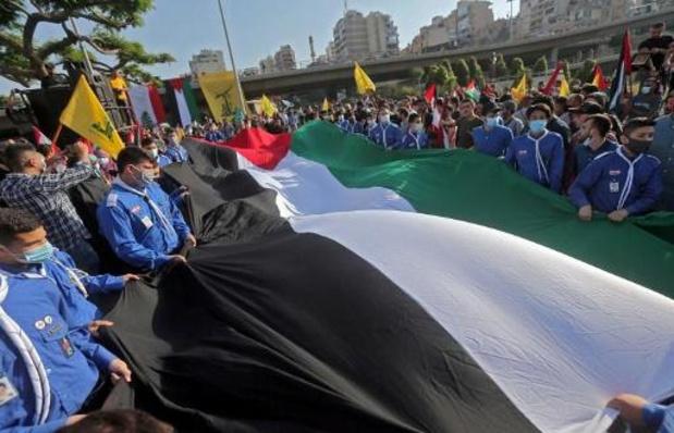"""Hezbollah begroet """"historische overwinning"""" Palestijnen"""