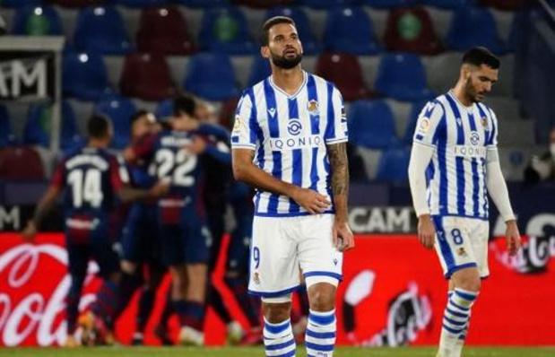 Belgen in het buitenland - Real Sociedad gaat onderuit bij Levante